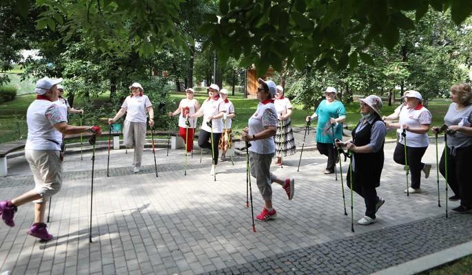 """Проект """"Московское долголетие"""" возобновляет занятия на свежем воздухе"""