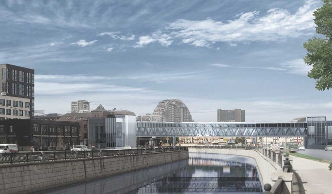 """Пешеходный мост через Яузу возле станции метро """"Электрозаводская"""" построят до конца 2021 года"""