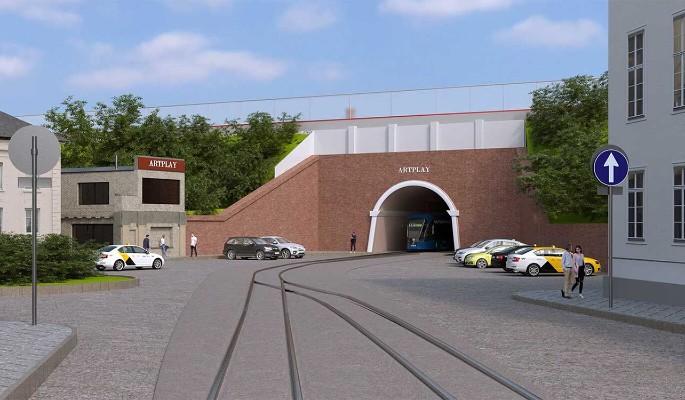Собянин рассказал о реконструкции знаменитого трамвайного тоннеля в Сыромятническом проезде