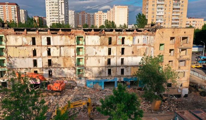 В Москве демонтировали 59 жилых домов с момента старта программы реновации