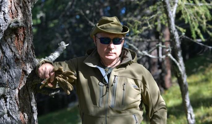 Рыбалка, поход в горы и нарисованный камин: отдых Путина и Шойгу в тайге попал на видео