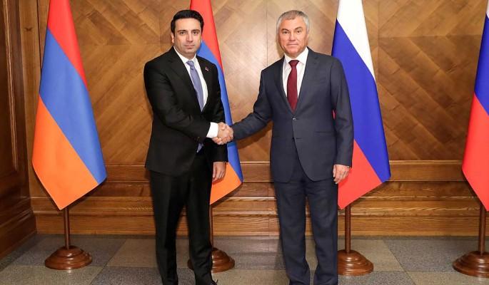 Россия и Армения будут укреплять межпарламентское сотрудничество